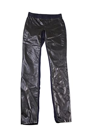 4d3c2c83add1a Inc International Concepts Black Blue Pleather-Front Skinny Leggings ...