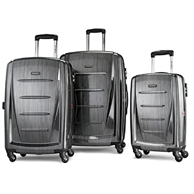 Samsonite Luggage Winfield 2 Fashion HS 3 Piece Set, Charcoal, 3 Piece Set
