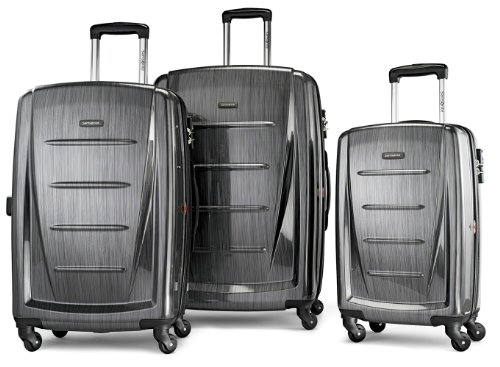 Samsonite Luggage Winfield 2 Fashion HS 3 Piece Set, Charcoal, 3 Piece Set by Samsonite