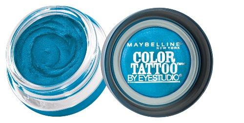 Maybelline 24 Hour Eyeshadow, Tenacious Teal, 0.14 Ounce (Teal Makeup)