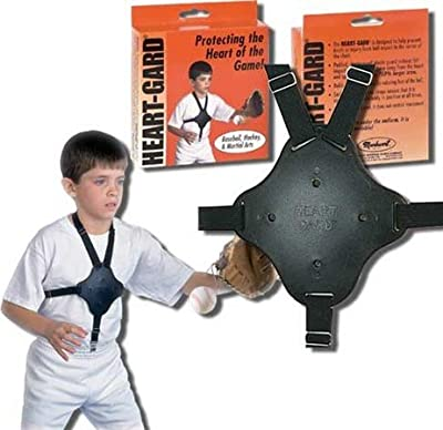 Heart-Guard Youth Protective Safety Plate (Worn Under Jerseys Virtually Invisible) for Baseball Pitchers, Catchers, Infielders, etc