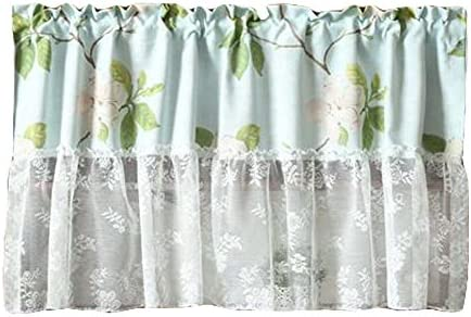 PANDA SUPERSTORE Lace Short Kitchen Curtain Small Window Half Curtain Cafe Curtain Tier Curtain