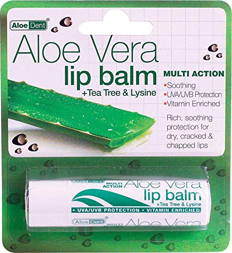 Aloe Vera Lip Balm 4g x 2 Pack Deal Saver ALOE DENT