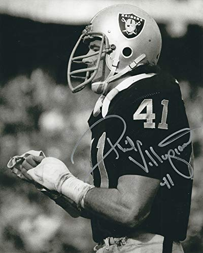 Autographed Phil Villapiano 8x10 Oakland Raiders Photo