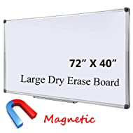 """Large Magnetic Dry Erase Board with Pen Tray