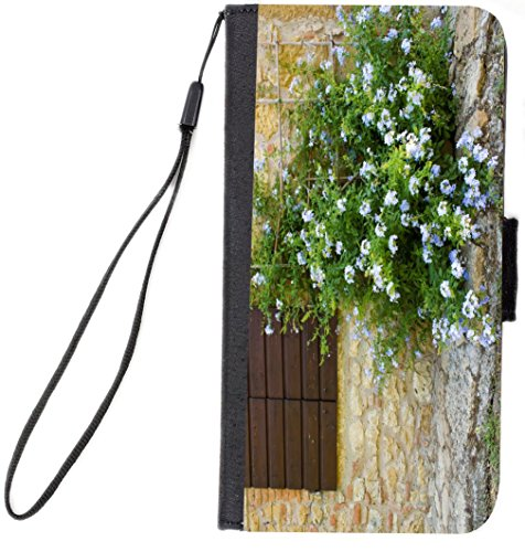 Rikki Knight Tuscan Window with Flowers Design, Cell Phone Case for Samsung Galaxy S6 - Black