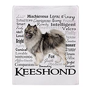 CafePress-Keeshond Traits-Soft Fleece Throw Blanket 17