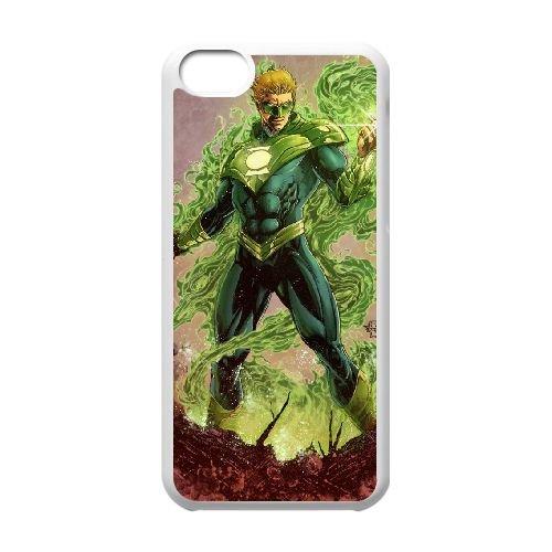 K1S47 Green Lantern V3D1VP cas d'coque iPhone de téléphone cellulaire 5c couvercle coque blanche KM4AGE6JG