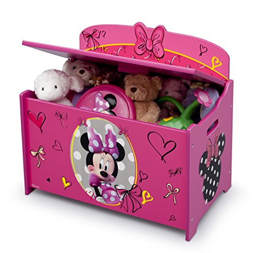51wYtSCWVhL - Delta Children Deluxe Toy Box, Disney Minnie Mouse