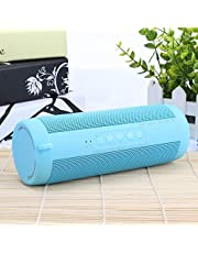 ZYZRYP T2 Wireless Bluetooth Speakers Best Waterproof Portable Outdoor Loudspeaker Mini Column Box Speaker Design for iPhone Xiaomi (Color : Blue)