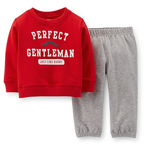 Carter's 2 Piece Valentine's Set (Baby) - Gentleman-3 Months (Valentines Carters Shirt)