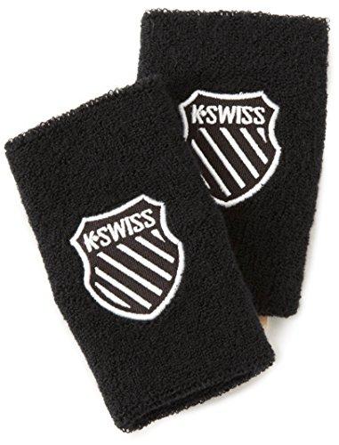 K-Swiss Unisex 5 Inch Wrist Band, Black,3 Sets