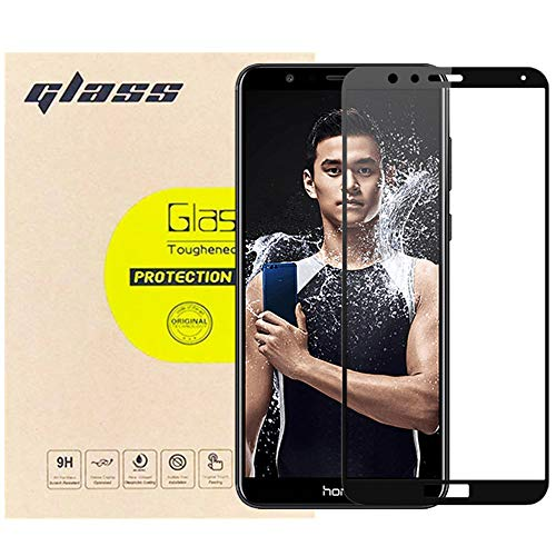 [3-Pack] LUPAPA for Huawei Honor 7X / Huawei Mate SE [Full Coverage] Screen Protector, 9H Hardness High Definition Tempered Glass Film [Anti-Scratch, Bubble Free, Anti-Fingerprint] (Black)