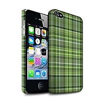 STUFF4 Matte Hard Back Snap-On Phone Case for Apple iPhone 4/4S / Irish Plaid/Tartan Design / Green Fashion Collection