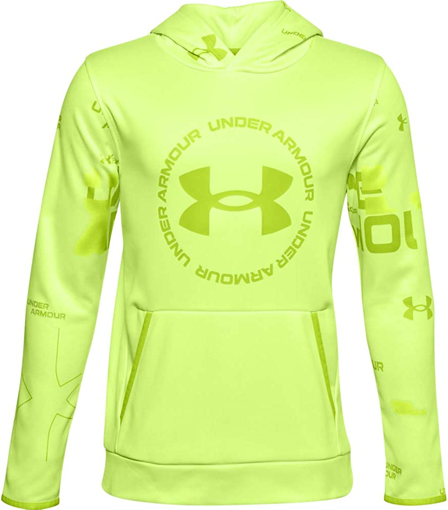 Under Armour Boys Armour Fleece Sleeveless Training Hoodie