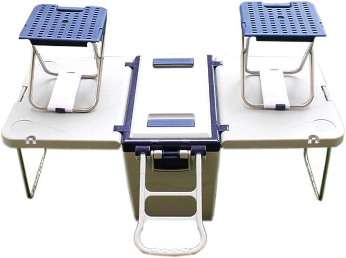 LIYANLCX Nevera portátil Caja Caliente Frío con Ranura para Taza como Mesa de Comedor Refrigerador de 25.6 litros para Trabajo Pesado Desmontable con Ruedas para bbqs para Acampar: Amazon.es: Hogar