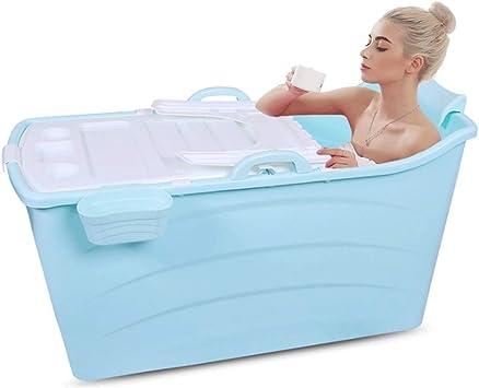 LRXHGOD Folding Wannenbad Fass Erwachsenen Wanne aufblasbare Badewanne Dicker Plastikeimer Badewanne 58cm