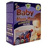 Hot Kid Baby Mum-Mum Blueberry and Goji Rice Rusks 50g Baby Mum-Mum biscottes de riz bleuets au Goji 50g