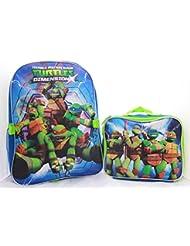 Ninja Turtles TMNT Dimension Boys School Backpack Lunchbox Book Bag SET
