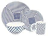 Melange Porcelain 18-Piece Dinnerware Set (Indigo Checks) | Service for 6| Microwave, Dishwasher & Oven Safe | Dinner Plate, Salad Plate & Soup Bowl (6 Each) Review