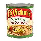 La Victoria Vegetarian Refried Beans - no. 10 can, 6 cans per case