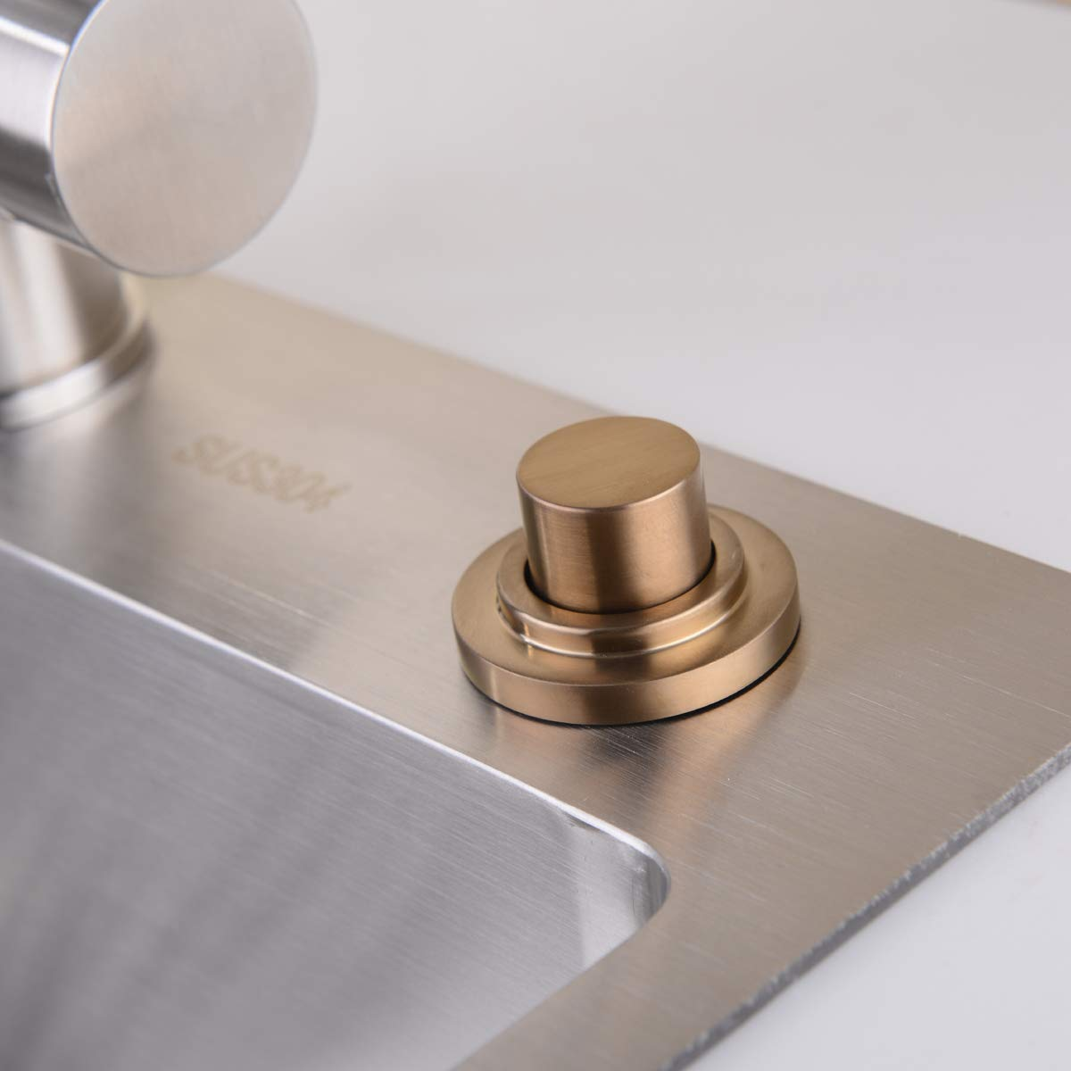SINKINGDOM SinkTop Air Switch Kit (Full Brass) for Garbage Disposal, Cordless (Champagne Bronze) by SINKINGDOM (Image #5)