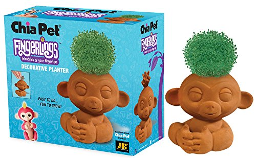 - Chia Pet Fingerlings Monkey Decorative Pottery Planter, Easy to Do and Fun to Grow, Novelty Gift, Perfect for Any Occasion