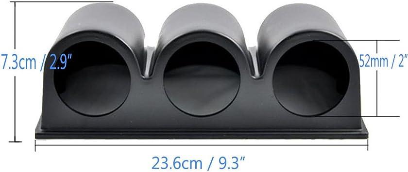 Auto Gauge Halterung 3 Löcher Universal Auto Dreifach Loch Instrumentenhalter Auto Halterung Zusatzinstrumente Schwarz Auto