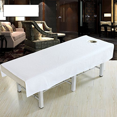 Cotton Waterproof Fashion Beauty Salon Body Spa Massage Table Cloth Bed Cover Sheet with Face Hole Pure Color