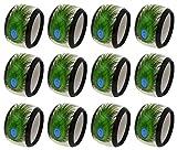 SKAVIJ Napkin Rings Set of 12 for Wedding Banquet Dinner Decor Favor Colorful Peacock Pattern
