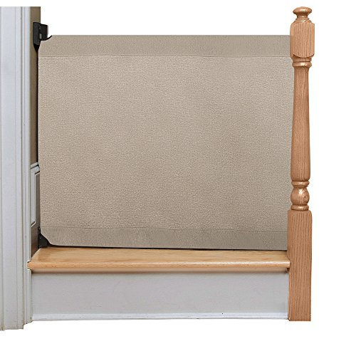 The Stair Barrier Baby and Pet Gate – Wall-to-Banister- Retractable Fabric Safety Gate Wide and Regular Sizes - Made in the USA – Khaki