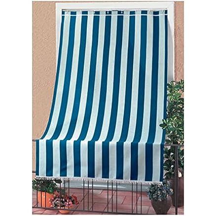 abbastanza Tenda da sole cm 140x300 appoggio balcone ringhiera tessuto cotone  TO94