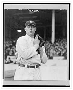 Historic Print (L): [Ray Keating, New York Yankees pitcher, facing front, standing, holding a ball in his gl