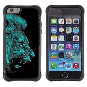 "Pulsar iFace Series Tpu silicona Carcasa Funda Case para Apple (4.7 inches!!!) iPhone 6 , León Angry Red Eyes Vampire Animal Jungle Cat"""