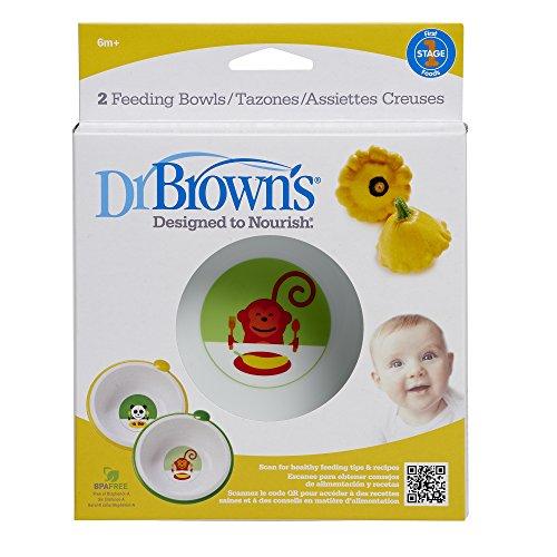 Dr Browns Feeding Bowls Yellow