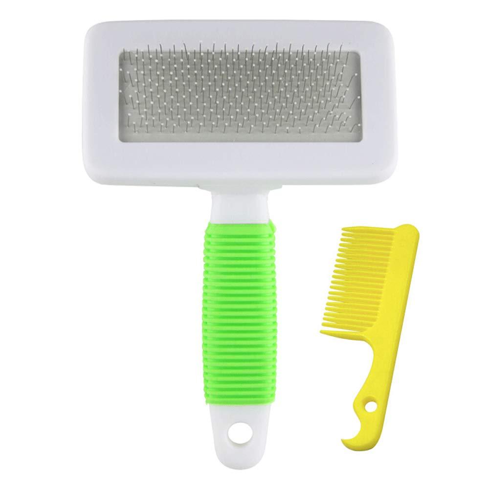 GREEN Pet Brush Pet Dog Supplies Dog Comb Comb Cat Comb Long Hair Medium Large Dog Supplies (color   Green)