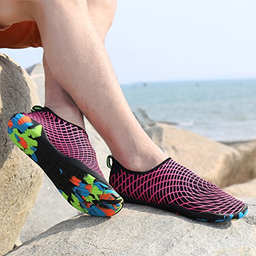 Rapide Chaussures Chaussons Aqua Piscine Aquatiques Surf Bain Rose De Chaussettes Volleyball Barefoot Le Yoga Pour Kuuland Plage Schage Unisexes Plonge wrXrq0Fx