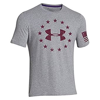 Ua Under Armour Freedom T-shirt True Gray Heater/sherry (Extra Extra Large)