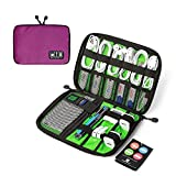 BAGSMART Small Universal Cable Organizer Travel Electronic Accessories Bag Case for Apple wires, Cables, USB Keys, Plugs, Earphones, Purple