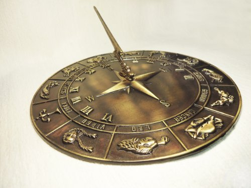 Brass Constellations Sundial - 12'' inches wide by Taiwan (Image #3)