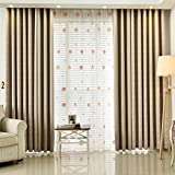VOGOL Polyester Energy Efficient 80% Blackout Curtains,Elegant Window Curtain/Drape/Panel for Bedroom Living Room,Patio Door,60 x 106Inch,One Panel,Top Grommets