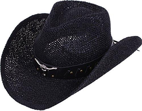 8ba668a26ee Simplicity Men   Women s Summer Woven Straw Cowboy Hat