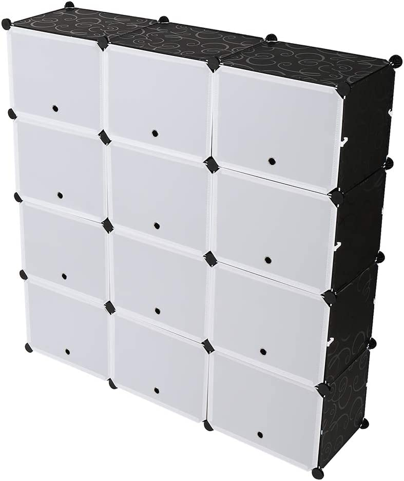 Kousi Portable Shoe Rack Organizer 48 Pair Tower Shelf Storage Cabinet Stand Expandable For Heels Boots Slippers 8 Tier Black Home Kitchen