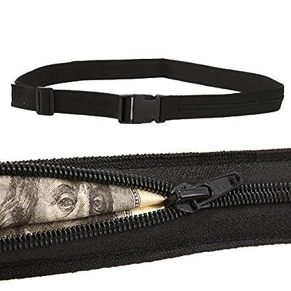 830879031830 Amazon.com : Whitelotous Money Belt Wallet Zip Pocket Protect Hidden ...