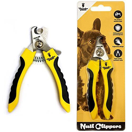 Thunderpaws Profi Krallenschere Schutzvorrichtung, Sicherheitsverschluss und Nagelfeile – Krallenschneider Krallenzange für Hunde – Geeignet für mittelgroße und große Rassen