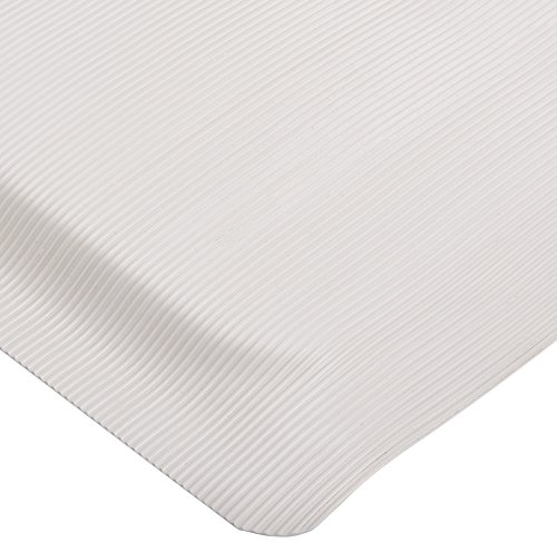 Rhino Mats ETT3660DSG Ribbed Vinyl Easy Kleen Anti-Fatigue Mat, 3' Width x 5' Length x 7/8