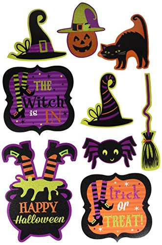 Amscan Friendly Witch Cutouts Halloween Trick Or Treat