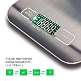 BENGOO Digital Food Scale Kitchen Scale Slim Stainless Multifunction Scale with LCD Display and Tare Function