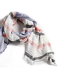 Natural Feelings Fashionable Striped Dyeing Graceful Autumn Women Scarf Wraps