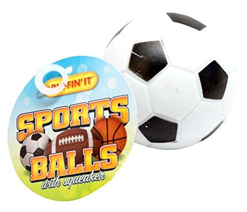 Ruffin It Air Foam Sports Ball, Football, 3-Pack ()